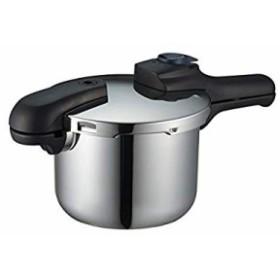 パール金属 圧力鍋 3.5L IH対応 3層底 切り替え式 レシピ付 クイックエコ H(中古品)