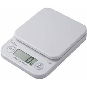タニタ はかり スケール 料理 2kg 1g デジタル ホワイト KF-200 WH(中古品)