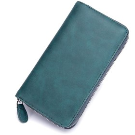 PlumRiver メンズ レディース 財布 長財布 カードケース 大容量 じゃばら カード入れ パスポートケース スキミング防止 Rfid カードホルダー カードが沢山入る財布 ブルー