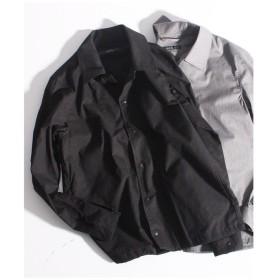 【50%OFF】 メンズビギ コーチジャケット型シャツブルゾン メンズ ブラック M 【Men's Bigi】 【セール開催中】