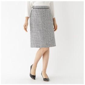 【インディヴィ/INDIVI】 [L]ツイードAラインスカート