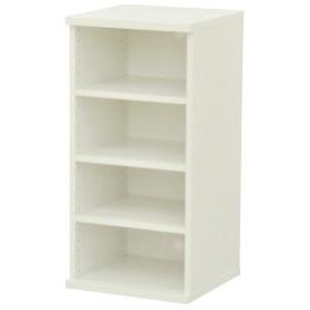 カラーボックス(収納棚/カスタマイズ家具) 4段 幅40×高さ81.9cm セレクト9040WH ホワイト【代引不可】