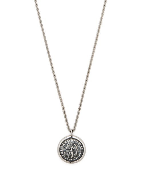 Tom Wood - Angel Coin Pendant Necklace - Mens - Silver