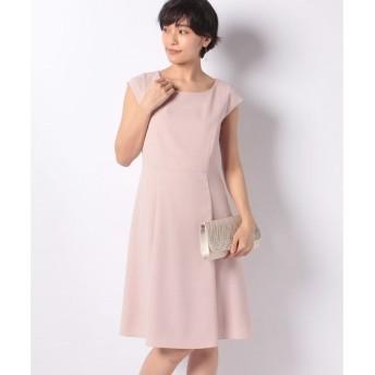 【ミス ジェイ】ドビークロス フレンチスリーブ ドレス