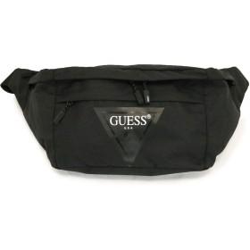 GUESS(ゲス) ショルダー バッグ 斜め掛け ビッグサイズ 大容量 AJ3A2A32 カーキ ブラック メンズ レディース 男女兼用 (ブラック)