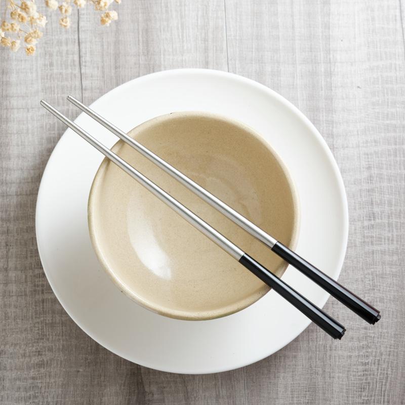 台箸【KUAI ZHU】花瓣不銹鋼筷10入(沉黑/淨白/天空青) 淨白5入+天空青5入
