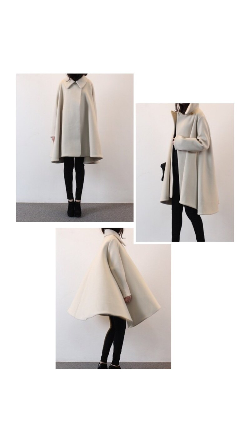 Zelda Poncho 披風式羊毛大衣 -可訂做多色
