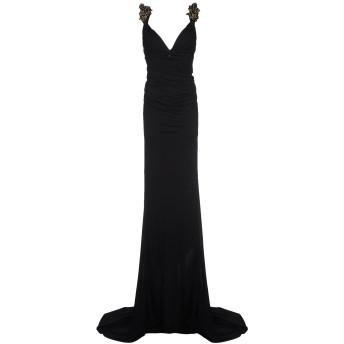 《セール開催中》DSQUARED2 レディース ロングワンピース&ドレス ブラック M レーヨン 100%
