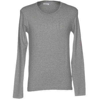 《セール開催中》BIKKEMBERGS メンズ T シャツ グレー XL コットン 94% / ポリウレタン 6%