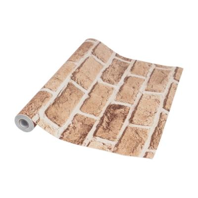 防水自黏壁紙貼-仿磚棕 45cm X 10M