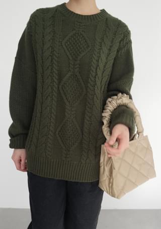 韓國空運 - pompom quilting kitsch bag 手拿包