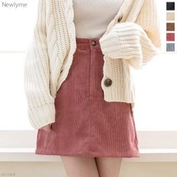 【An0115】【冬新作】[コーデュロイ台形ミニスカート|NL|FN|CS||]◆入荷済