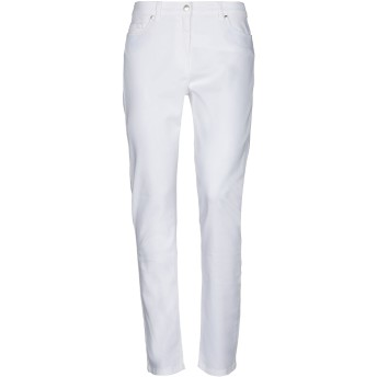 《セール開催中》ALESSANDRO DELL'ACQUA レディース パンツ ホワイト 33 コットン 98% / ポリウレタン 2%