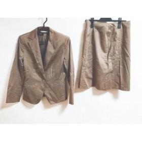 クミキョク 組曲 KUMIKYOKU スカートスーツ サイズ2 M レディース ブラウン【中古】20191118