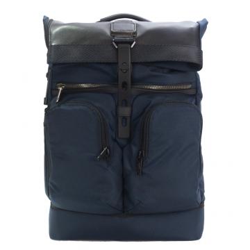 TUMI ALPHA BRAVO 尼龍拼接雙口袋後背包 適用15吋筆電 海軍藍
