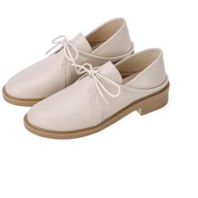 [Yj6x] レースアップシューズ レディース オックスフォード おじ靴 22.0cm 痛くない 大きいサイズ とんがりトゥ ファッション 靴 アプリコットの色 ベーシックなデザイン クラシカルなデザイン 厚底 トレンド感抜群 ブーティ