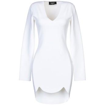 《セール開催中》DSQUARED2 レディース ミニワンピース&ドレス ホワイト L レーヨン 75% / ナイロン 25%