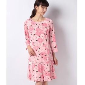 【ミス ジェイ】ローズサテンプリントドレス
