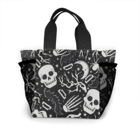 グロウインザダークスカルコウモリ トートバッグ おしゃれ レディース バッグ 買い物バッグ ランチバッグ エコバッグ ハンドバッグ