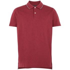 《セール開催中》TOMMY HILFIGER メンズ ポロシャツ ボルドー S コットン BCI 100% HEATHER TIPPED SLIM