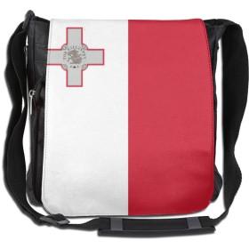 ショルダーバッグ リュックマルタ 馬耳他共和國国旗 斜めがけバッグ 2way デイバック ボディーバッグ 大容量 パック 通勤 旅行 軽量 One Size Black