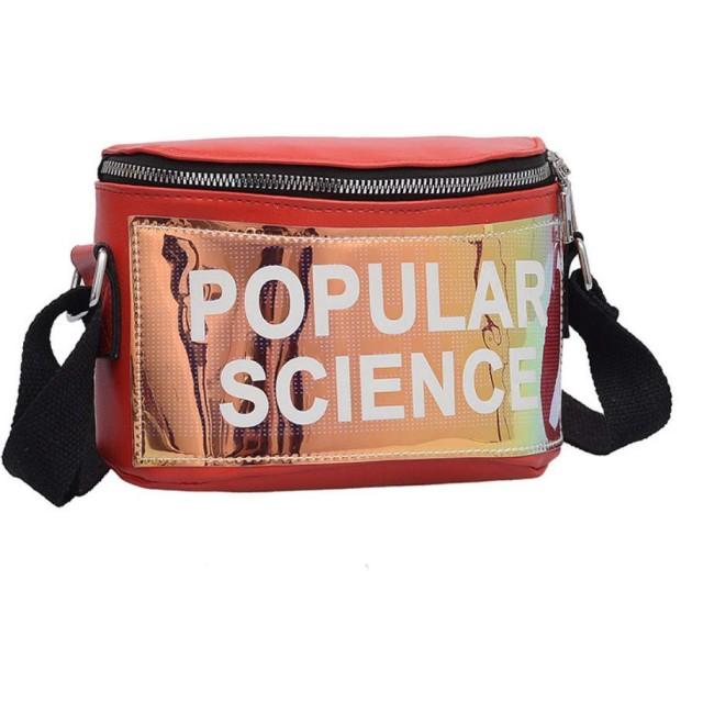 女性 ファッション カジュアル 個性的 おしゃれ 調整可能 文字パターン ジッパー ショルダーバッグ 胸バッグ