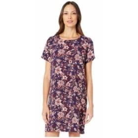 ボボウ Bobeau レディース ワンピース シフトドレス ワンピース・ドレス Crepe Shift Dress Blue/Ivory Wallflower