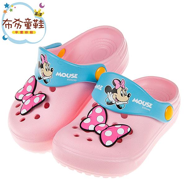 《布布童鞋》Disney迪士尼米妮復古蝴蝶結粉色兒童布希鞋(15~20公分) [ D9S348G ]