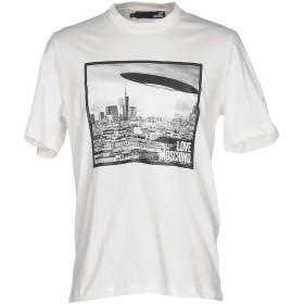 《セール開催中》LOVE MOSCHINO メンズ T シャツ アイボリー L コットン 100%