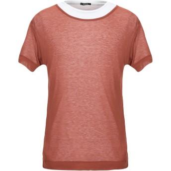 《セール開催中》OFFICINA 36 メンズ T シャツ ブラウン S コットン 100%