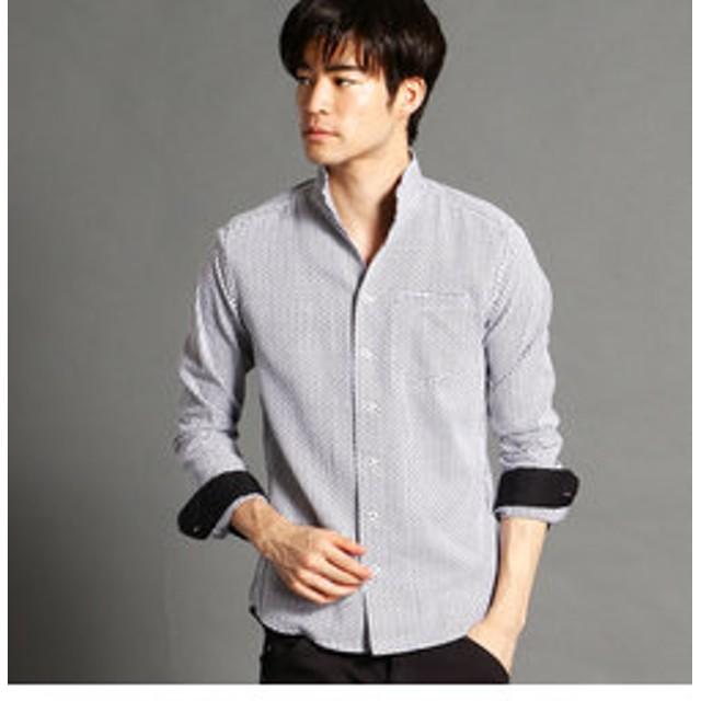 【SALE開催中】【NICOLE:トップス】ショートイタリアンカラー長袖シャツ