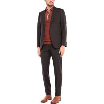 《セール開催中》CARUSO メンズ スーツ ダークブラウン 46 ウール 90% / モヘヤ 10%