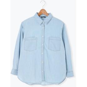 【6,000円(税込)以上のお買物で全国送料無料。】デニムシャツ LS