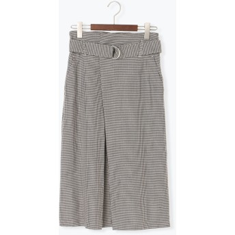【6,000円(税込)以上のお買物で全国送料無料。】チェックアソートベルト付タイトスカート