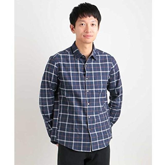 アー・ヴェ・ヴェ(メンズ)(a.v.v) チェックキモウシャツ[WEB限定サイズ]【ネイビー/XL】