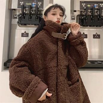 【送料無料】 今季トレンドのコットンジャケットが限定特価 レディース 新品 秋冬ふわふわ ジャケット 暖かい 柔らか 子羊の毛 ジャケット 可愛い 子羊の毛 コート コットンコート