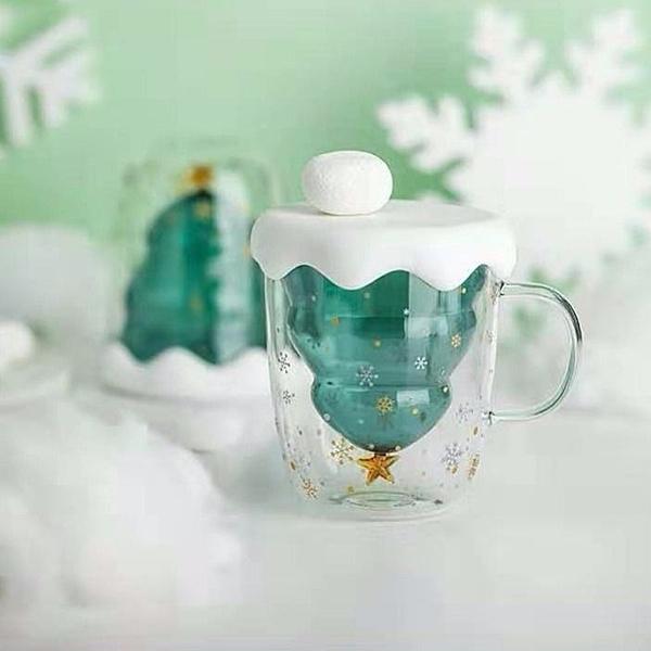 現貨 貓爪玻璃杯 聖誕樹水杯 星願杯 耐高溫馬克杯 雙層水杯禮品 派對用品 萬聖節狂歡價