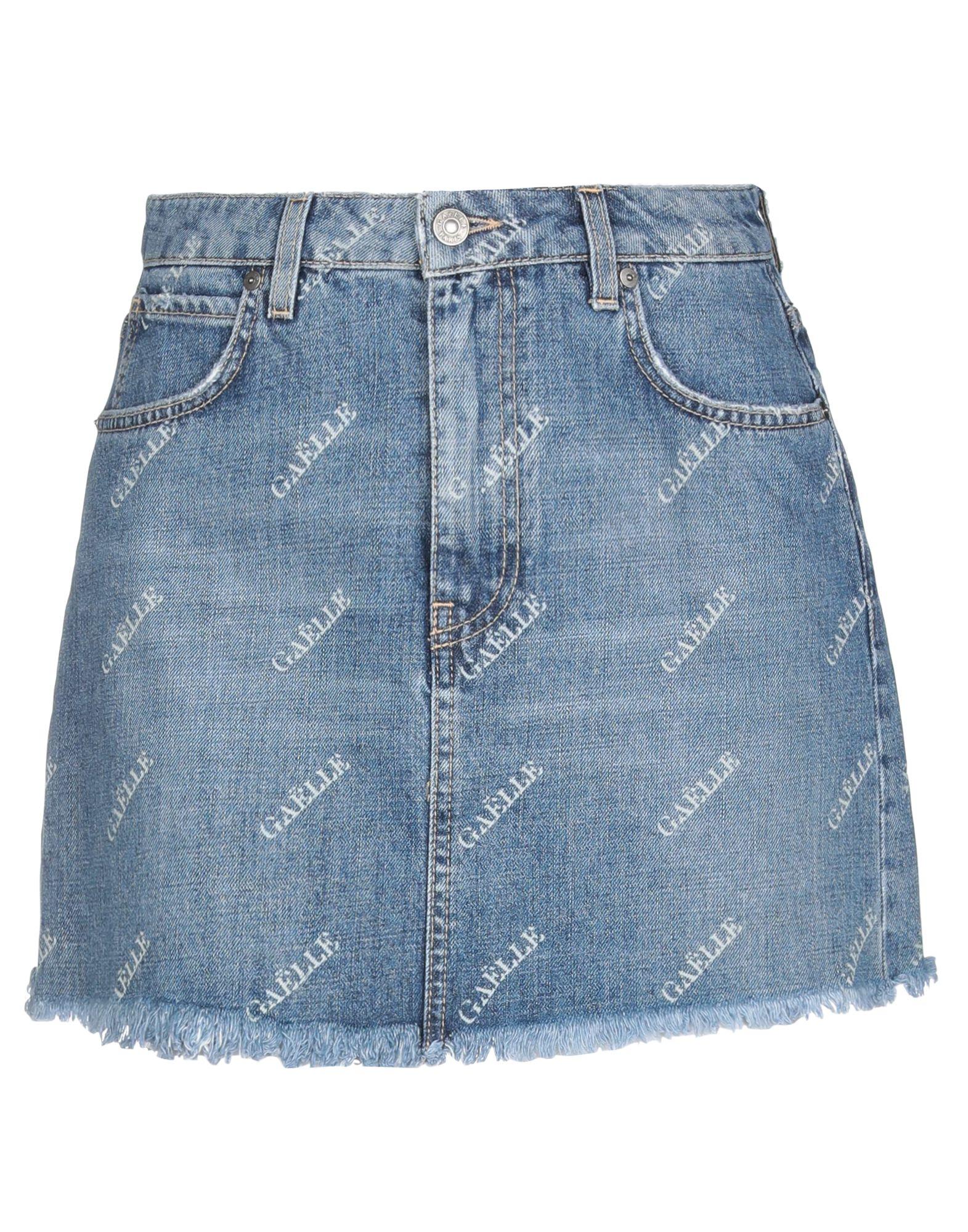 GAëLLE Paris Denim skirts - Item 42777806