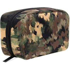 GUKISALA 化粧ポーチ,抽象的なパターン暗いデザイン迷彩柄の背景,大容量コスメケース多機能旅行用高品質収納ケース メイク ブラシ バッグ 化粧バッグ ファッションバッグ