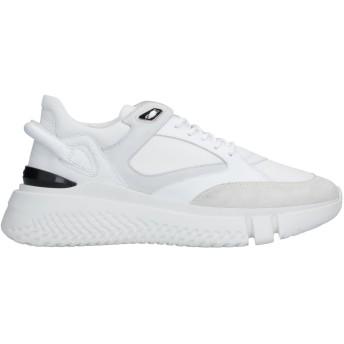 《セール開催中》BUSCEMI メンズ スニーカー&テニスシューズ(ローカット) ホワイト 40 革 / 紡績繊維