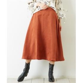 Green Parks(グリーンパークス)。フェイクスエードフレアースカート (ロング丈・マキシ丈スカート)Skirts, 裙子