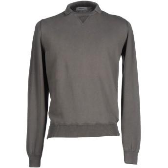 《セール開催中》ALPHA STUDIO メンズ スウェットシャツ 鉛色 50 コットン 100%