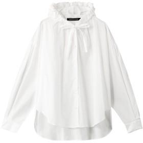 mizuiro ind ミズイロインド フーデッドシャツ オフホワイト