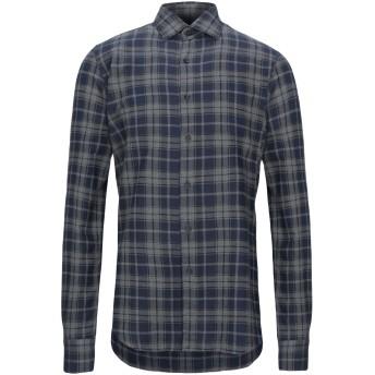 《セール開催中》XACUS メンズ シャツ ブルーグレー 39 コットン 100%