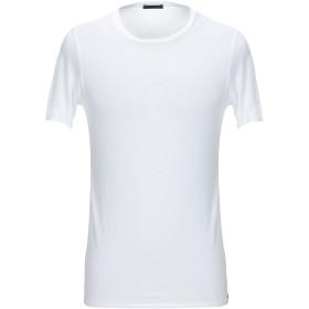 《セール開催中》WISE GUY メンズ T シャツ ホワイト 46 レーヨン 100%