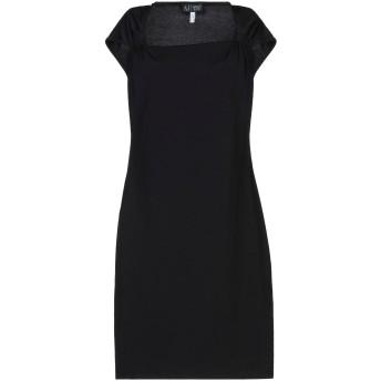 《セール開催中》ARMANI JEANS レディース ミニワンピース&ドレス ブラック 40 ポリエステル 95% / ポリウレタン 5%