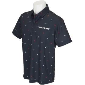 ビバハート VIVA HEART スプレッドプラチナDRY鹿の子半袖ポロシャツ 48(M) ネイビー 098
