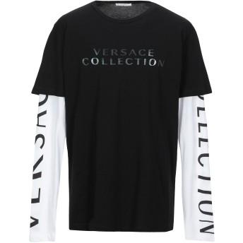《セール開催中》VERSACE COLLECTION メンズ T シャツ ブラック XXL コットン 100%