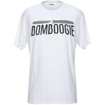 《セール開催中》BOMBOOGIE メンズ T シャツ ホワイト XL コットン 100%