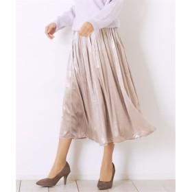 Green Parks(グリーンパークス)。m ベロアプリーツスカート (ロング丈・マキシ丈スカート)Skirts, 裙子